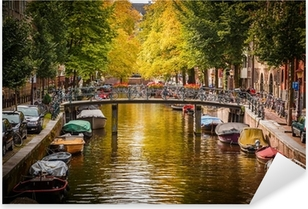 Canal in Amsterdam Pixerstick Sticker