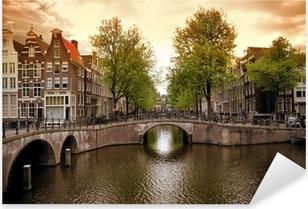 Sticker Pixerstick Canaux d'Amsterdam