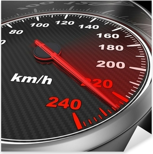 Car Speedometer Pixerstick Sticker