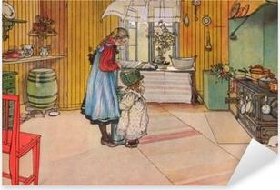 Carl Larsson - The Kitchen Pixerstick Sticker