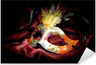 Pixerstick Sticker Carnaval masker