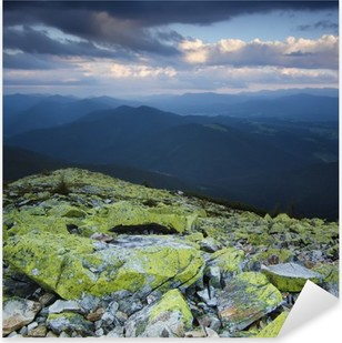 Carpathian mountain landscape Pixerstick Sticker