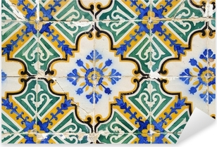 Sticker Pixerstick Carreaux traditionnels portugais, Tuiles