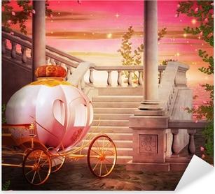 Carriage Castle Fantasy Backdrop Pixerstick Sticker