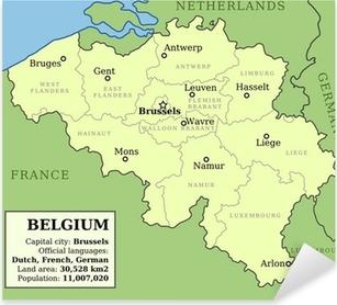 Sticker Pixerstick Carte de Belgique