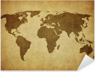 Sticker Pixerstick Carte de cru du monde