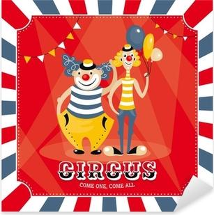Sticker Pixerstick Carte de vecteur avec des clowns