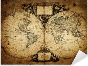 Sticker Pixerstick Carte du monde 1752