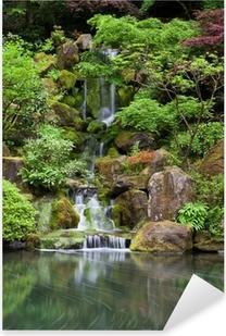 Sticker Pixerstick Cascade dans le jardin japonais à Portland