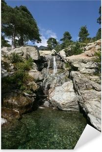 Sticker Pixerstick Cascade des Anglais, Vizzavona, Corse, Corte, Corse