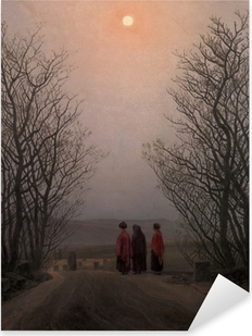 Caspar David Friedrich - Easter Morning Pixerstick Sticker