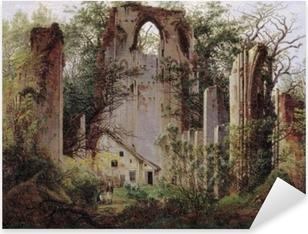 Sticker Pixerstick Caspar David Friedrich - Ruine du monastère Eldena