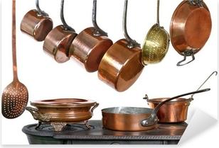 casseroles et ustensiles de cuisine, en cuivre Pixerstick Sticker