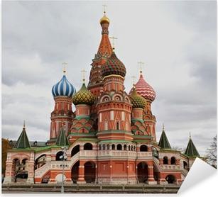 Sticker Pixerstick Cathédrale Saint-Basile, Moscou, Russie