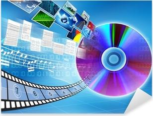 CD / DVD data storage Concept Pixerstick Sticker
