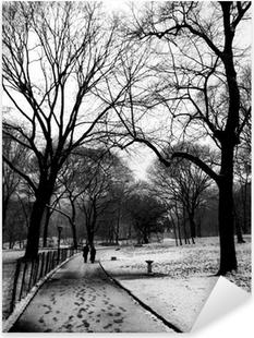 Sticker Pixerstick Central park sous la neige