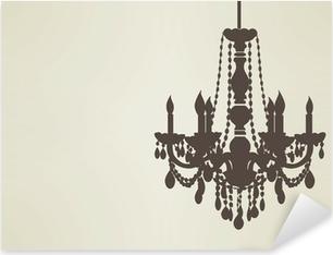 chandelier sillhouette EPS10 Pixerstick Sticker