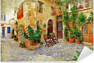 Chania,Crete- old charming streets Pixerstick Sticker