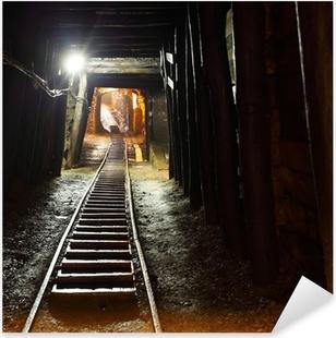 Sticker Pixerstick Chemin de fer des mines en underground.