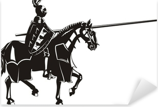 Sticker Pixerstick Chevalier médiéval