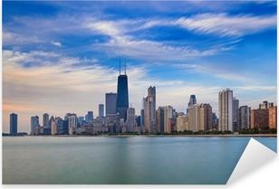 Pixerstick Sticker Chicago skyline