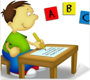 Child Studying 1 Pixerstick Sticker