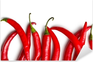 Pixerstick Sticker Chili pepers op witte achtergrond