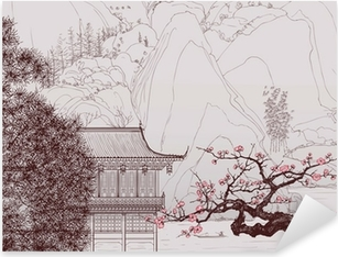 Chinese landscape Pixerstick Sticker