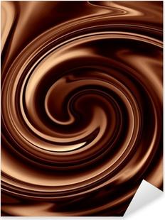 Chocolate background Pixerstick Sticker