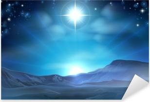 Christmas Nativity Star of Bethlehem Pixerstick Sticker