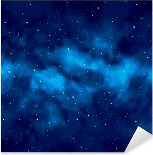 Sticker Pixerstick Ciel de nuit avec des étoiles