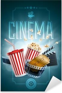 Cinema Poster Design Template Pixerstick Sticker