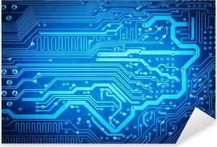 circuit board background Pixerstick Sticker