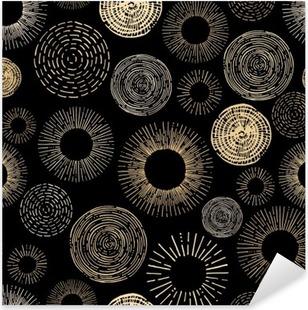Pixerstick Sticker Cirkel naadloos patroon
