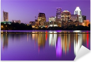City Skyline - Austin, TX Pixerstick Sticker