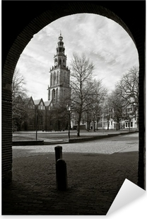 Cityscape of Groningen with the Martini tower Pixerstick Sticker