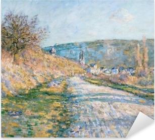 Pixerstick Sticker Claude Monet - De weg naar Vetheuil