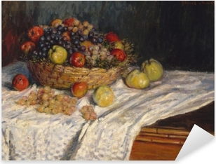 Pixerstick Sticker Claude Monet - Druiven en appels