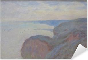 Pixerstick Sticker Claude Monet - Kliffen in de buurt van Dieppe