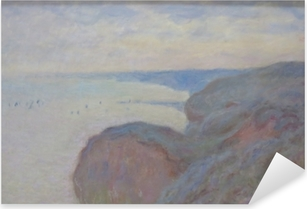 Claude Monet - Steef Cliffs near Dieppe Pixerstick Sticker