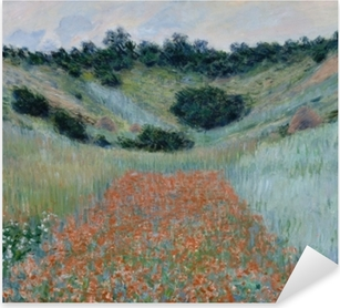Claude Monet - The Poppy Field near Giverny Pixerstick Sticker