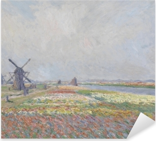 Claude Monet - Tulip Fields with the Rijnsburg Windmill Pixerstick Sticker
