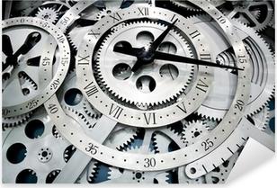 clock and gears Pixerstick Sticker