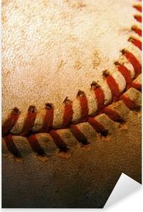 Pixerstick Sticker Close-up van een oude, gebruikte honkbal