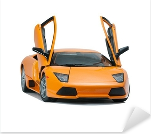 Collectible toy model Lamborghini front view Pixerstick Sticker