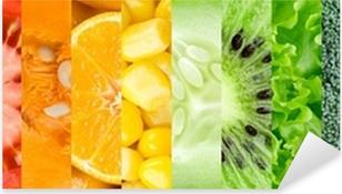 Pixerstick Sticker Collectie met verschillende vruchten en groenten