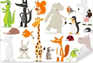 collection d'animaux pour enfants Pixerstick Sticker