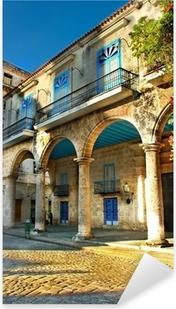 Colonial architecture in Havana Pixerstick Sticker