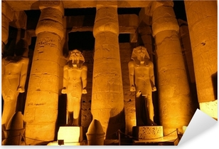 Sticker Pixerstick Colonnes géantes de l'ancienne ville égyptienne Luksor