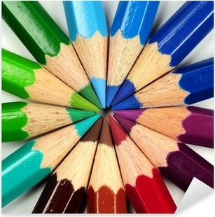Colored pencils Pixerstick Sticker